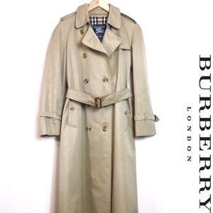 BURBERRYS' OF LONDON VINTAGE TRENCH COAT 46L